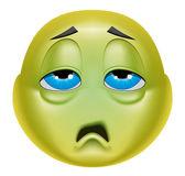 Emoticon sick — Zdjęcie stockowe