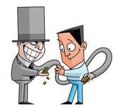Banker  swindler — Stock Photo