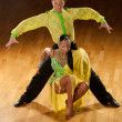 Latino dance couple in action - wild samba — Stock Photo #13174316