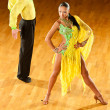 Latino dance couple in action - wild samba — Stock Photo #13174336