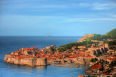 Fortified city center in dubrovnik croatia europe — Foto de Stock