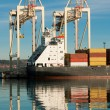 Cargo sea port. Sea cargo cranes. Sea. — Stock Photo #18281729