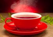 Xícara de chá em uma tabela — Fotografia Stock