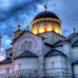 Ortodox church of the Resurrection of Christ in Podgorica Monten — Stock Photo