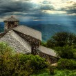 Sant Jerome church on mount Nanos in slovenia, europe after stor — Stock Photo
