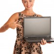 Beautiful young woman with laptop — Stock Photo #33095717