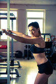 Woman working out in fitness - Active girl — Stok fotoğraf