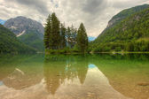 Predil lake in Italian Alps — Stock Photo