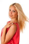 Beautiful young blond woman studio portrait — Stock Photo