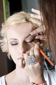 Make-up. Eye shadow brush — Stock Photo