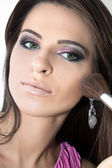 Make-up-anwendung — Stockfoto
