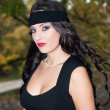 Stockfoto: Beautiful brunette with black headband