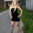 Стоковое фото: Attractive blonde fashion girl
