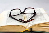 Glasses and books — Stock Photo
