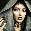 Make up, nails of sexy evil witch — Stock Photo #12640426