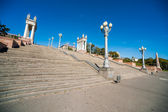 Colonnade, street lights, staircase — Stock Photo