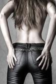 Modèle féminin sexy back — Photo