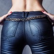 Female wearing sexy pants - Stock Photo