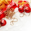 Christmas gifts and decorations — Stock Photo #14620943