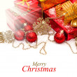 Stock Photo: Christmas gifts and decorations