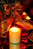 Night Christmas Decorations background — Stock Photo