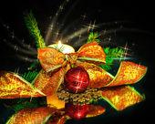 Adornos navideños de composición — Foto de Stock