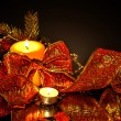 Royalty-Free Stock Photo: Christmas background on black