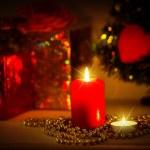 Christmas evening background — Stock Photo