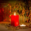 Christmas evening background — Stock Photo