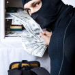 Professional burglar opened a small safe — Stock Photo