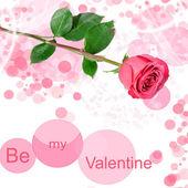 Be my valentine card — Stock Photo