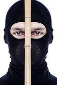 Close up portrait of male ninja — Stock Photo