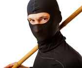 Ninja in black mask — Stock Photo
