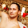 Young man in spa — Stock Photo #20427543