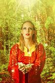 Young beautiful woman fairy — Stock Photo