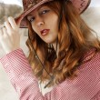 Royalty-Free Stock Photo: sexy Woman wearing cowboy hat