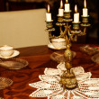 Candlestick with five candles - Stock Photo
