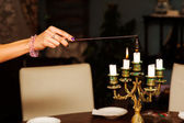 Extinguishing candles — Stock Photo