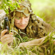 Military Camouflaged man — Stock Photo