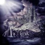 童话故事。梦幻城堡和村 — 图库照片