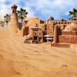 Old fantasy asian city in the desert — Stock Photo