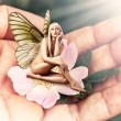 Beautiful woman pixie with butterfly wings — Stock Photo #26910191