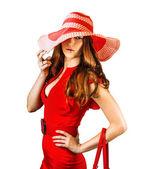 Ung sexig fashionabla kvinna — Stockfoto