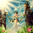 Young beautiful fairy woman — Stock Photo