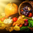 Beautiful autumn harvest of vegetables — Stock Photo #29544145