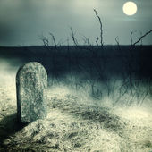 Gravestone on old cemetery — Stock Photo