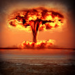 Modern nuclear bomb explosion — Stock Photo #31553455