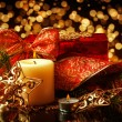 Christmas Decorations background for card — Stock Photo #34869149