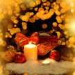 Christmas Decorations background for card — Stock Photo