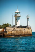 lighthouse on the seafront of Yalta — Stock Photo